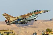 Israeli Air Force (IAF) F-16D (Barak) Fighter jet in flight