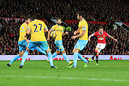 Juan Mata of Manchester United scores the opening goal - Manchester United vs. Crystal Palace - Barclay's Premier League - Old Trafford - Manchester - 08/11/2014 Pic Philip Oldham/Sportimage