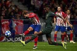 November 28, 2018 - Madrid, Spain - Antoine Griezmann of Atletico Madrid during the UEFA Champions League match between Atletico Madrid and AS Monaco at Wanda Metropolitano Stadium in Madrid, Spain on November 28, 2018  (Credit Image: © Jose Breton/NurPhoto via ZUMA Press)