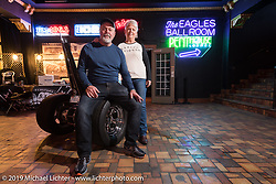 David and Becky Swinson with their 2010 custom Evo Trike built by Becky's son Scott Jones, at the Mama Tried Show. Milwaukee, WI. USA. Sunday February 25, 2018. Photography ©2018 Michael Lichter.