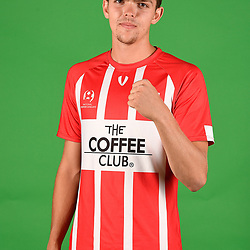 Jack Glover poses for a photo during the Olympic FC men's headshot session at Goodwin Park on January 21, 2018 in Brisbane, Australia. (Photo by Patrick Kearny/Olympic FC)