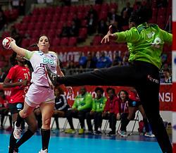 03-12-2019 JAP: Slovenia - Angola, Kumamoto<br /> Third match 24th IHF Women's Handball World Championship, Slovenia loss the third match against Angola with 24 - 33. / Maja Svetik #28 of Slovenia