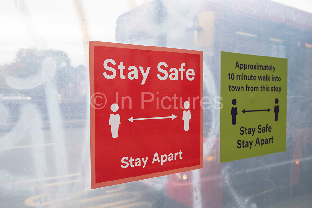 As numbers of Covid-19 cases in Birmingham have dramatically risen in the past weeks, increased lockdown measures are in place for Birmingham and other areas of the West Midlands, social distancing measures in the city centre on 7th October 2020 in Birmingham, United Kingdom. With financial difficulties for many businesses, and the country in recession, the downturn in the economy has left forced many shops to close down, leaving high streets in the UK struggling.
