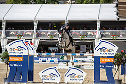 NIEBERG Gerrit (GER), CONTAGIO<br /> Münster - Turnier der Sieger 2019<br /> Grosser Preis von Münster <br /> BEMER Riders Tour Etappenwertung<br /> CSI4* - Int. Jumping competition over 2 rounds (1.60 m)<br /> 04. August 2019<br /> © www.sportfotos-lafrentz.de/Stefan Lafrentz