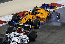 April 8, 2018 - Sakhir, Bahrain - VANDOORNE Stoffel (bel), McLaren Renault MCL33, action during 2018 Formula 1 FIA world championship, Bahrain Grand Prix, (Credit Image: © Hoch Zwei via ZUMA Wire)