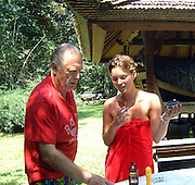Chris Blackwell and Kate Moss in Jamaica 2001