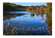 Little Long Pond on a beautiful sunny day in autumn, Acadia National Park, Maine, USA