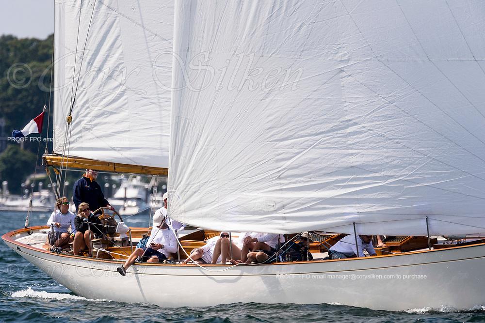 Sonny sailing in the Panerai Newport Classic Yacht Regatta.