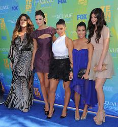 Khloe Kardashian,Kendall Jenner,Kim Kardashian,Kourtney Kardashian and Kylie Jenner at The Fox 2011 Teen Choice Awards held at Gibson Ampitheatre in Universal City, Los Angeles, CA, USA on August 07,2010. Photo by Hollywood Press Agency/ABACAPRESS.COM  | 285318_054