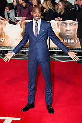 © Licensed to London News Pictures. 28/11/2016. MO FARAH attend's the I Am Bolt world film premiere. London, UK. Photo credit: Ray Tang/LNP