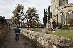 County town in ancient Rutland twinned with Barnstedt; Oakham  All Saint's church,