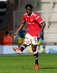 Manchester United's Kobbie Mainoo during the UEFA Youth League, Group F match at Leigh Sports Village, Manchester. Picture date: Wednesday September 29, 2021.