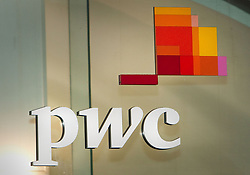 """File photo dated 01/11/12 of a sign of PricewaterhouseCoopers (PwC) which is on the cusp of launching a robo-economist that could make the company the """"most accurate"""" economic forecaster on the market."""