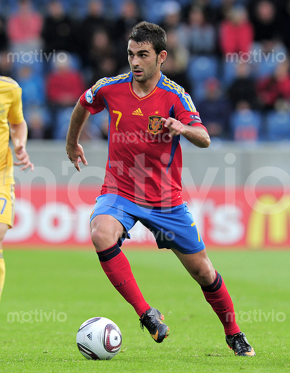 FUSSBALL   UEFA U21-EUROPAMEISTERSCHAFT 2011   GRUPPE B       19.06.2011 Ukraine - Spanien Adrian (Spanien)