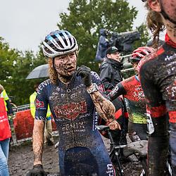GIETEN (NED): CYCLOCROSS: October 3th<br /> Race impression mud, modder, Puck Pieterse