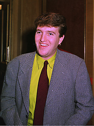 The HON.CHRISTOPHER TENNANT son of Lord Glenconner, at a luncheon in London on 11th December 1997.MEF 14