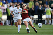 04 December 2011: Stanford's Camille Levin (2) and Duke's Mollie Pathman (24). The Stanford University Cardinal defeated the Duke University Blue Devils 1-0 at KSU Soccer Stadium in Kennesaw, Georgia in the NCAA Division I Women's Soccer College Cup Final.