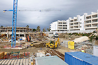 Apartment construction, Taylor Wimpey site, San Pedro de Alcantara, Marbella, Spain, April, 2016. Completed Taylor Wimpey apartments on right of picture. 201604192450<br /> <br /> Copyright Image from Victor Patterson, 54 Dorchester Park, Belfast, UK, BT9 6RJ<br /> <br /> t1: +44 28 9066 1296 (from Rep of Ireland 048 9066 1296)<br /> t2: +44 28 9002 2446 (from Rep of Ireland 048 9002 2446)<br /> m: +44 7802 353836<br /> <br /> e1: victorpatterson@me.com<br /> e2: victorpatterson@gmail.com<br /> <br /> The use of my copyright images is subject to my Terms & Conditions.<br /> <br /> It is IMPORTANT that you familiarise yourself with them. They are available on my website at www.victorpatterson.com.<br /> <br /> None of my copyright images may be used on a website unless they are visibly watermarked, i.e. © Victor Patterson within the body of the visible image. Metadata denoting my copyright must NOT be deleted. <br /> <br /> Web use is extra at currently recommended NUJ rates.