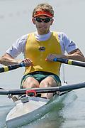 2005, World Rowing Championships, Nagaragawa International Regatta Course, Gifu, JAPAN: Monday  29.08.2005. AUS M1X David Crawshay.  © Peter Spurrier/Intersport Images - email images@intersport-images.com