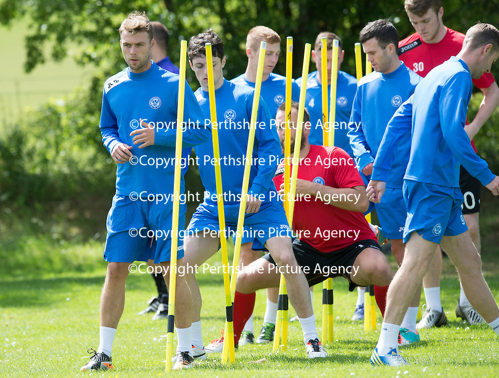 St Johnstone Training,,,,01.07.13<br /> Trialist Rory Loy pictured in training this morning...<br /> Picture by Graeme Hart.<br /> Copyright Perthshire Picture Agency<br /> Tel: 01738 623350  Mobile: 07990 594431