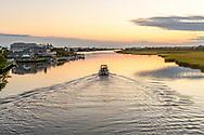 Motor Boat, Canal,  Westhampton Beach, NY