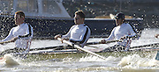 PUTNEY, LONDON, ENGLAND, 18.03.2006, Pre 2006 Boat Race Fixture, Cambridge UBC vs Leander BC.  right to left, Steve Rowbotham 5 Peter Reed 6 Marcus Bateman, over part of the Championship Course  from Putney to Mortlake.   © Peter Spurrier/Intersport-images.com...[Mandatory Credit Peter Spurrier/ Intersport Images] Varsity Boat Race, Rowing Course: River Thames, Championship course, Putney to Mortlake 4.25 Miles