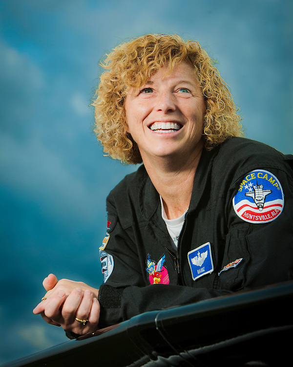 Air Force Col. Jill Long. Jill has been a aerial refueling tanker pilot, flown an A-10 Warthog on over 50 combat missions in Afghanistan, and has been a squadron commander in Germany.  In her spare time, she flies a Pitts S2B doing aerobatic routines at airshows across the country.  Photographed for Women In Aviation during AirVenture 2009, in Oshkosh, Wisconsin.