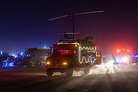 Some wonderful moments of organic chaos out there. People and cars going slowly in all directions. - https://Duncan.co/Burning-Man-2021