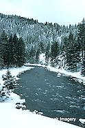 65195-037.03 Gallatin river in winter near Big Sky  MT