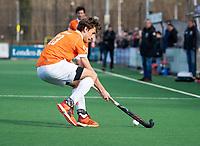 BLOEMENDAAL  - Florian Fuchs (Bldaal)  . Bloemendaal-Kampong (2-1).  hoofdklasse hockey mannen.   COPYRIGHT KOEN SUYK