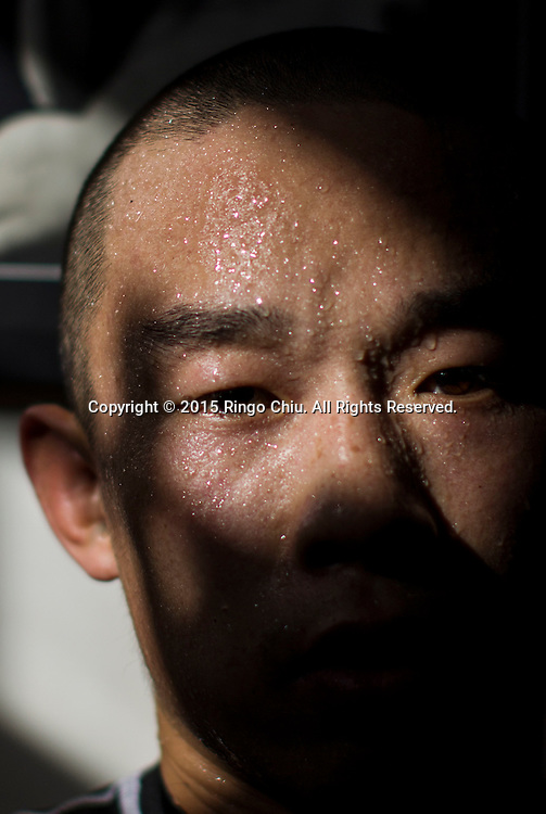 Chinese boxer Yang Lianhui practices at Wild Card Boxing Club in Los Angeles.  (Photo by Ringo Chiu/PHOTOFORMULA.com)