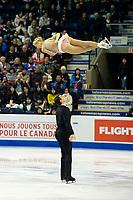 KELOWNA, BC - OCTOBER 25: American figure skaters Alexa Scimeca Knierim and Chris Knierim compete in the pairs short program of Skate Canada International held at Prospera Place on October 25, 2019 in Kelowna, Canada. (Photo by Marissa Baecker/Shoot the Breeze)