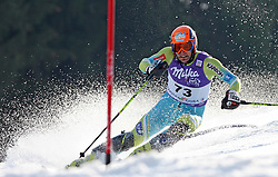 Ales Gorza of Slovenia skiing in first run of 10th men`s slalom AUDI FIS Alpine Ski World Cup race in Kranjska Gora, Slovenia, ob March 9, 2008.  (Photo by: Vid Ponikvar / Sportal Images)
