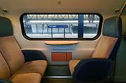 Nederland, Nijmegen, 19-1-2017Zicht op het perron van het centraal station vanuit een treincoupe.Foto: Flip Franssen