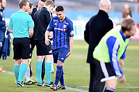 Fotball , 19. april 2015 ,   Eliteserien , Tippeligaen <br /> Stabæk - Viking<br /> <br /> Yassine El Ghanassy , Stabæk går av banene med skade i hamstring<br /> Foto: Digitalsport
