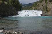 Bow River and Cascade Mountains, Bow Falls, Banf, Banf National Park, Alberta, Canada