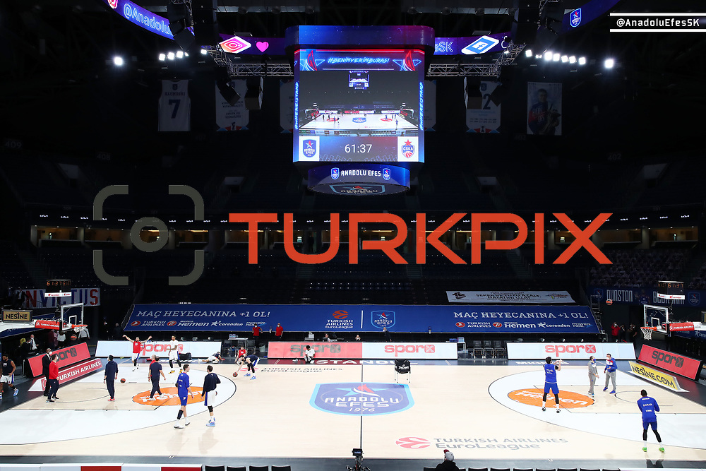 Anadolu Efes's and CSKA Moscow's during their Turkish Airlines Euroleague Basketball 2020-2021 Regular Season Round 28 match Anadolu Efes between CSKA Moscow at the Sinan Erdem Sports Hall on March 04, 2021 in Istanbul, Turkey. Photo by Aykut AKICI/TURKPIX