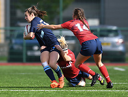Cardiff Blues Women v Scarlets Women<br /> <br /> Photographer Mike Jones / Replay Images<br /> Centre of Excellence, Ystrad Mynach<br /> 23rd September 2018<br /> <br /> World Copyright © 2018 Replay Images. All rights reserved. info@replayimages.co.uk - http://replayimages.co.uk