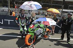 April 21, 2018 - Le Mans, SARTHE (72, FRANCE - 4 TATI TEAM BEAUJOLAIS RACING (FRA) KAWASAKI ZX 10R SUPERSTOCK PILOT JULIEN (FRA) DENIS KÉVIN (FRA) ENJOLRAS JULIEN  (Credit Image: © Panoramic via ZUMA Press)