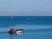 Fishers off Mahdia harbor, Tunisia