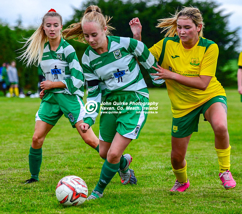 Caoimhe McKenna keeps possition for Trim Celtic with Torro United's CAtriona Buttler closing in, in the Torro United v Trim Celtic Womens league match at Powderly Park.<br /> <br /> Photo: GERRY SHANAHAN-WWW.QUIRKE.IE<br /> <br /> 09-08-2020