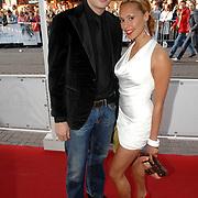 NLD/Amsterdam/20070522 - Premiere Pirates Of The Caribbean 3, Lange Frans Frederiks en partner Rowena Baierl