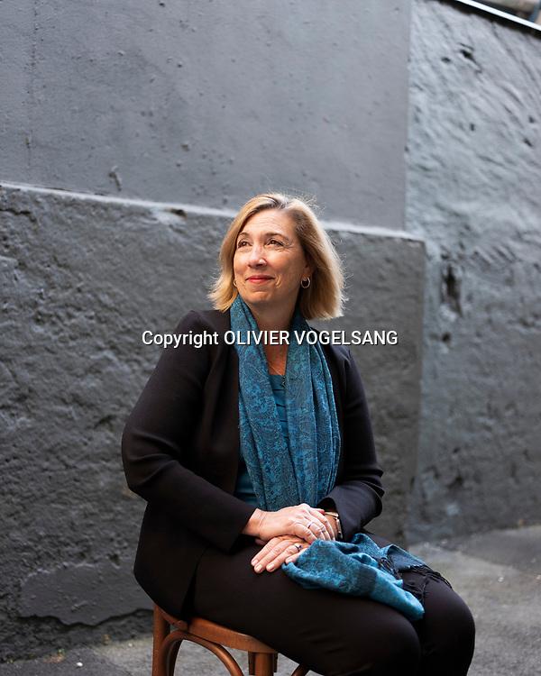 Lausanne, juillet 2019. Treffen mit Lorie Garver, Ex-Nasa-Frau und jetzt CEO von Umweltsatellitenfirmach. © Olivier Vogelsang