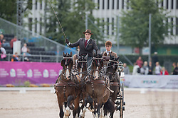 Degrieck Dries, BEL, Charlie, Dirk, Garrelt, Grenadier<br /> FEI European Driving Championships - Goteborg 2017 <br /> © Hippo Foto - Stefan Lafrenz