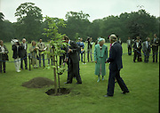 State Visit of King Juan Carlos and Queen Sophia of Spain to Ireland.<br /> 1986.<br /> 30.06.1986<br /> 06.30.1986.<br /> 30th June 1986.<br /> King Juan Carlos and Queen Sophia paid a state visit to Ireland at the invitation of President Hillery and the Irish people.<br /> The duration of the visit was three days.<br /> <br /> With the President and Mrs Hillery looking on the King and Queen of Spain are pictured as they plant a tree in the gardens of Áras an Uachtaráin. The tree was planted to commerate the visit of the Spanish Royalty.
