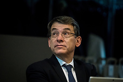 November 22, 2018 - Lyon, France - Emmanuel Barbe, inter-ministerial delegate for road safety, talks with company managers present at the 20th anniversary of the Rhône Road Safety Club, in Lyon, France, on 22 November 2018. (Credit Image: © Nicolas Liponne/NurPhoto via ZUMA Press)