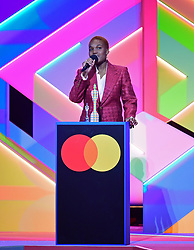 Arlo Parks accepts the award for Breakthrough Artist during the Brit Awards 2021 at the O2 Arena, London. Picture date: Tuesday May 11, 2021.