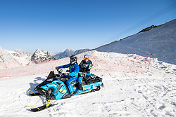 Ilka Stuhec on snowmobile during spring practice session of Meta Hrovat and Ilka Stuhec on May 18, 2020 in Kanin, Bovec, Slovenia. Photo by Matic Klansek Velej / Sportida