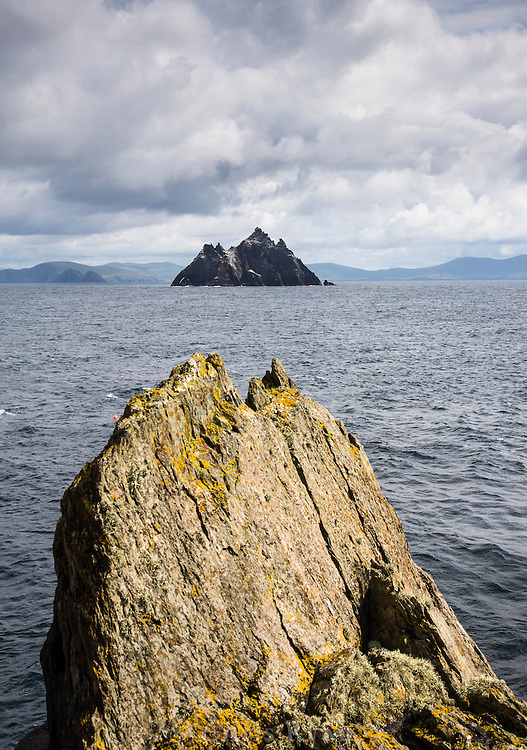 The island of Little Skellig seen from Skellig Michael, County Kerry, Ireland