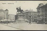 Zagreb : Jelačićev trg. <br /> <br /> Impresum[S. l. : s. n., između 1905. i 1918].<br /> Materijalni opis1 razglednica : tisak ; 8,8 x 14 cm.<br /> Vrstavizualna građa • razglednice<br /> ZbirkaZbirka razglednica • Grafička zbirka NSK<br /> ProjektPozdrav iz Zagreba • Pozdrav iz Hrvatske<br /> Formatimage/jpeg<br /> PredmetZagreb –– Trg bana Josipa Jelačića<br /> Jezikhrvatski<br /> SignaturaRZG-JEL-28<br /> Obuhvat(vremenski)20. stoljeće<br /> NapomenaRazglednica je putovala.<br /> PravaJavno dobro<br /> Identifikatori000976043<br /> NBN.HRNBN: urn:nbn:hr:238:751975 <br /> <br /> Izvor: Digitalne zbirke Nacionalne i sveučilišne knjižnice u Zagrebu